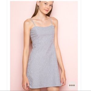 BRANDY MELVILLE white and blue striped dress